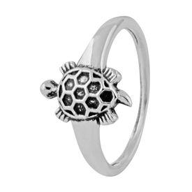 Tortoise Silver Finger Ring-FRL146