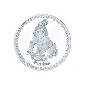 Laddu Gopal Krishna 10 Grams 999 Silver Coin-C01G10