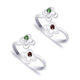 Color Cz Silver Toe Ring-TR284