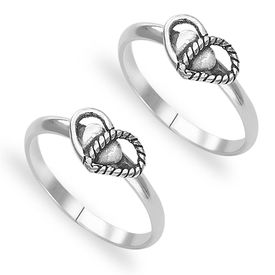 Crazy Silver Toe Ring-TR426