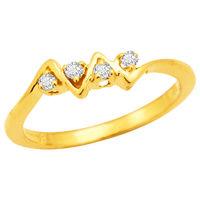 Diamond Rings - BAR286, si - ijk, 12, 18 kt