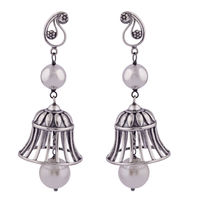 Cage Free Silver Earrings-ER077