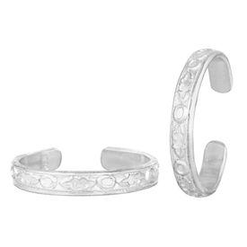 Pretty Plain Silver Toe Ring-TRRD035