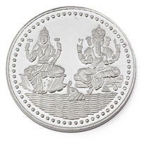 Manglam Laxmi Ganesh 20 Grams 999 Silver Coin-MJC01G20