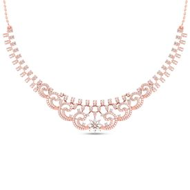 Classic Clutch Diamond Necklace-RBN0093
