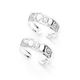 Stones Studded Toe Ring-TR181