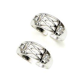 Impressive White Zircon Toe Ring-TR265