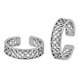 Cutwork Silver Toe Ring-TR368