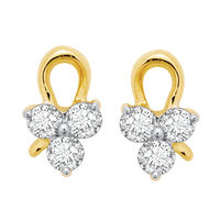 Daisy Floret Studs Earrings- BAPS189ER, si - ijk, 18 kt