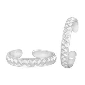 Pleasing Plain Silver Toe Ring-TRRD046