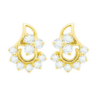 Kashvi Diamond Earrings- BAER475, si - ijk, 18 kt