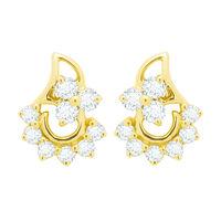 Kashvi Diamond Earrings- BAER475, si - ijk, 18 kt