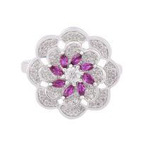 Rosy Silver Ring-FRL131, 12