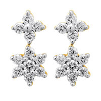 Interlinked Diamond Drop Earrings- BATS42ER, si - ijk, 18 kt
