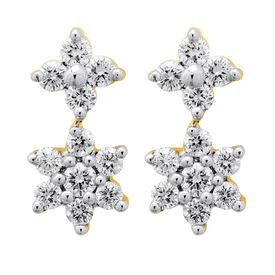 Interlinked Diamond Drop Earrings- BATS42ER
