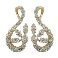 Vibrant Diamond Earrings- BAPS0952ER, si - ijk, 14 kt