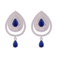 Royal Haze Silver Drop Earrings-ERMX003