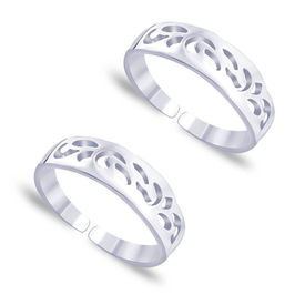 Twisted Graved Silver Toe Ring-TR405