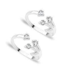 Splendid Openable Silver Toe Ring-TR102