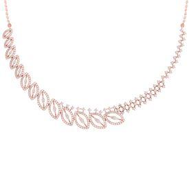 Border Diamond Leaf Necklace-RBN0098