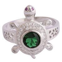 Green Turtle Unisex Ring-FRL182, 25