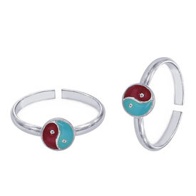 The Swirl Silver Toe Ring-TR427