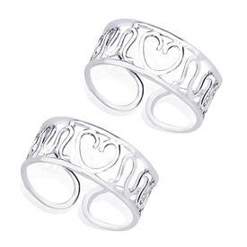 Heart Silver Toe Ring-TR266