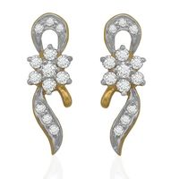 Interwined Diamond Cuffs- BAER0677, si - ijk, 18 kt