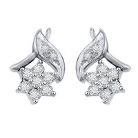 Leafy Flo Diamond Earrings- GUER12, si - ijk, 18 kt