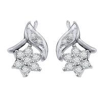 Leafy Flo Diamond Earrings- GUER12, si - ijk, 18 kt