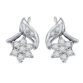 Leafy Flo Diamond Earrings- GUER12