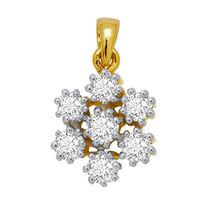 Flower Diamond Pendant- GUPS0031P, si - ijk, 18 kt