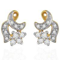 Classy Diamond Earrings- BAER0052, si - ijk, 18 kt