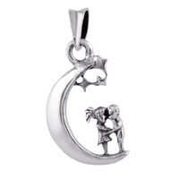 Moon Couples Silver Pendant-PDMX021