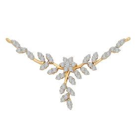 Leafy Diamond Mangalsutra- GUTS0083TA