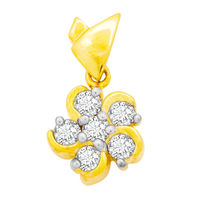 Bouquet Diamond Pendant- GUP0043, si - ijk, 14 kt