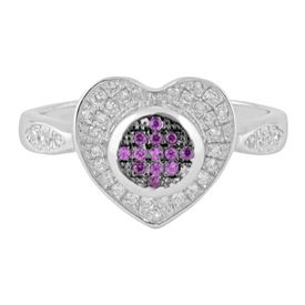 Immortal Heart Zircon Silver Ring-FRL125