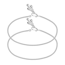 Classic Silver Chain Anklets-ANK089