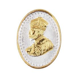 King George Gold Polish Oval 20 Grams 999 Silver Coin-CGP1G20