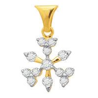 Snowflake Diamond Pendant- BAPS229P, si - ijk, 18 kt