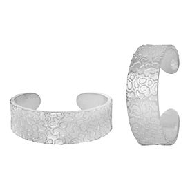 Iconic Plain Silver Toe Ring-TRRD006