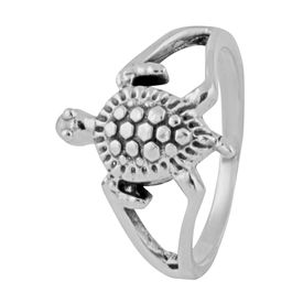 Tortoise Sterling Silver Finger Ring-FRL143