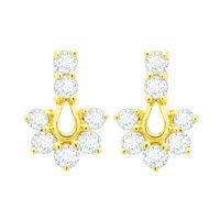 Royal Diamond Earrings- BAER465, si - ijk, 18 kt