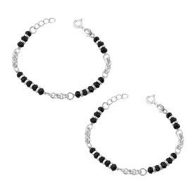 Silver Beads Nazariya Bracelete- BRNZ007