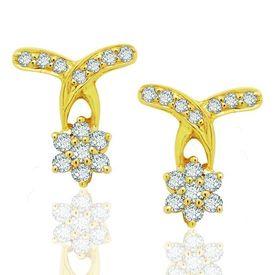 Down Flow Diamond Earrings- BANS0450ER