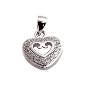 Bewitching Heart Silver Pendant-PDMX007