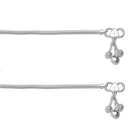Plain Chain Silver Anklets-ANK055