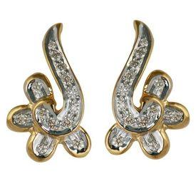 Twisted Diamond Earrings- BAPS1701ER
