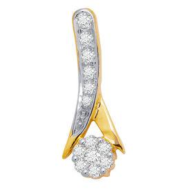 Glittering Drop Curve Diamond Pendant- BAPS0316P