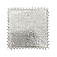 Silver Engraved Pooja Chowki-GP026